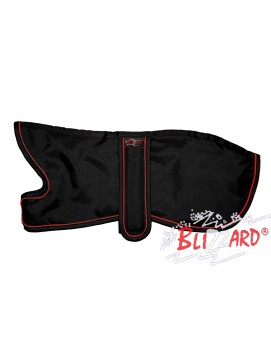 Black Italian Greyhound Blizzard® Coat With Red Piping