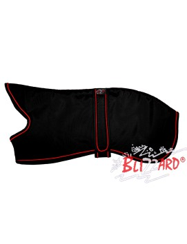Black Whippet Blizzard® Coat With Red Piping