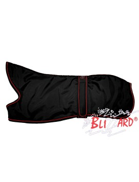 "22"" Black Lurcher Blizzard® Coat With Red Piping"