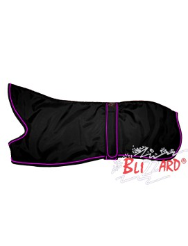 "22"" Black Lurcher Blizzard® Coat With Pink Piping"